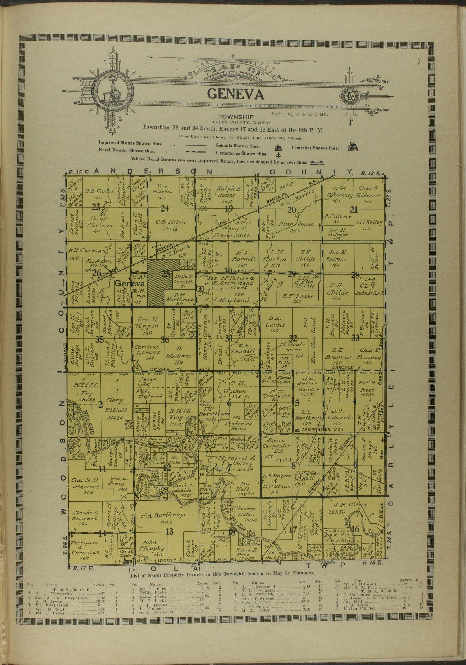 Atlas and plat book of Allen County, Kansas - 7