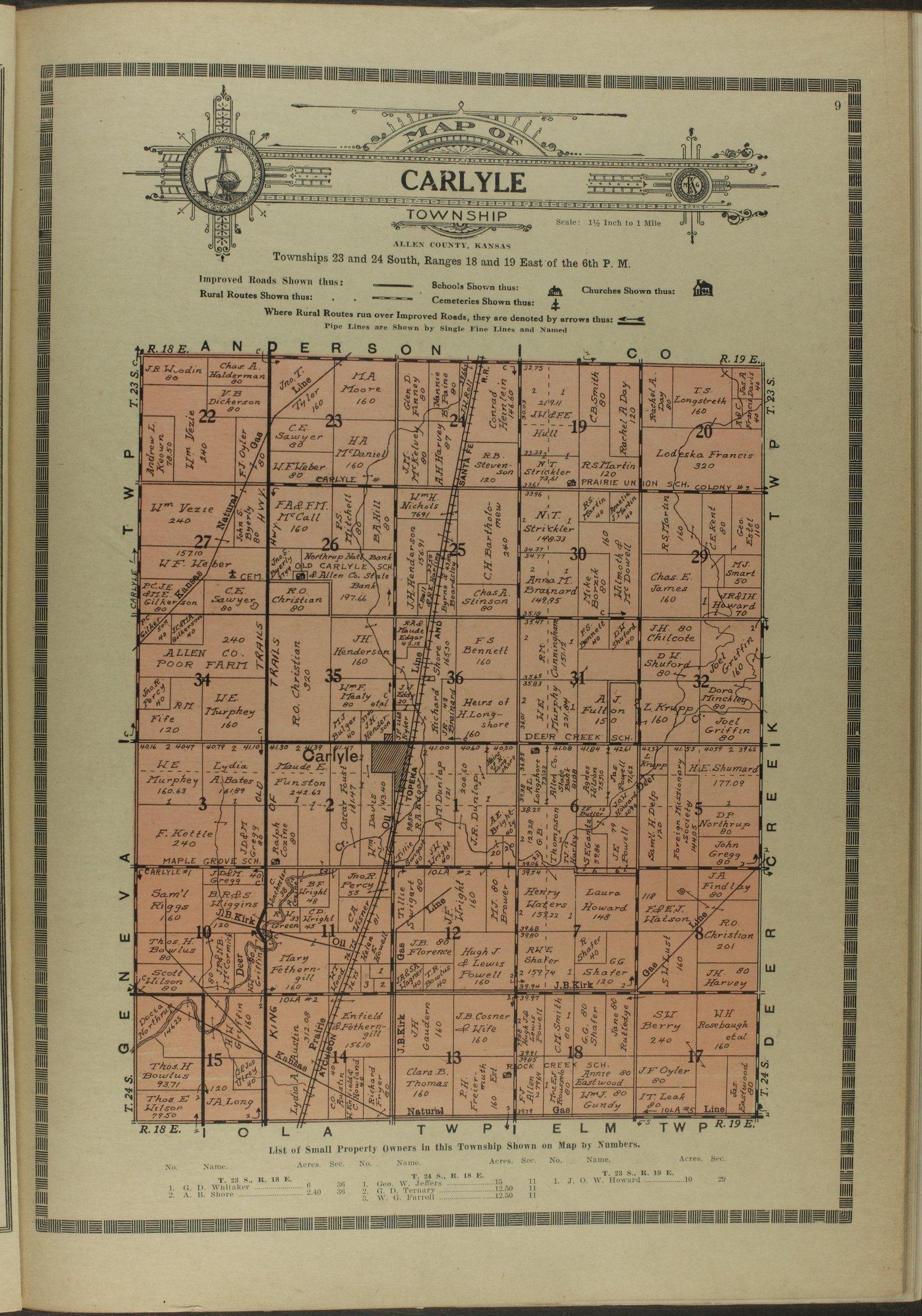 Atlas and plat book of Allen County, Kansas - 9
