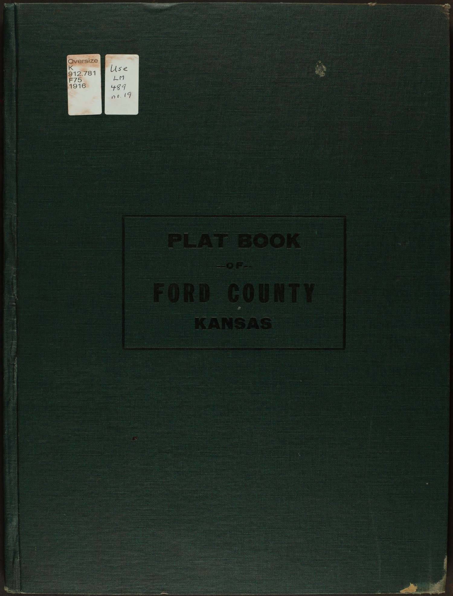 Atlas and plat book of Ford County, Kansas - Front Cover