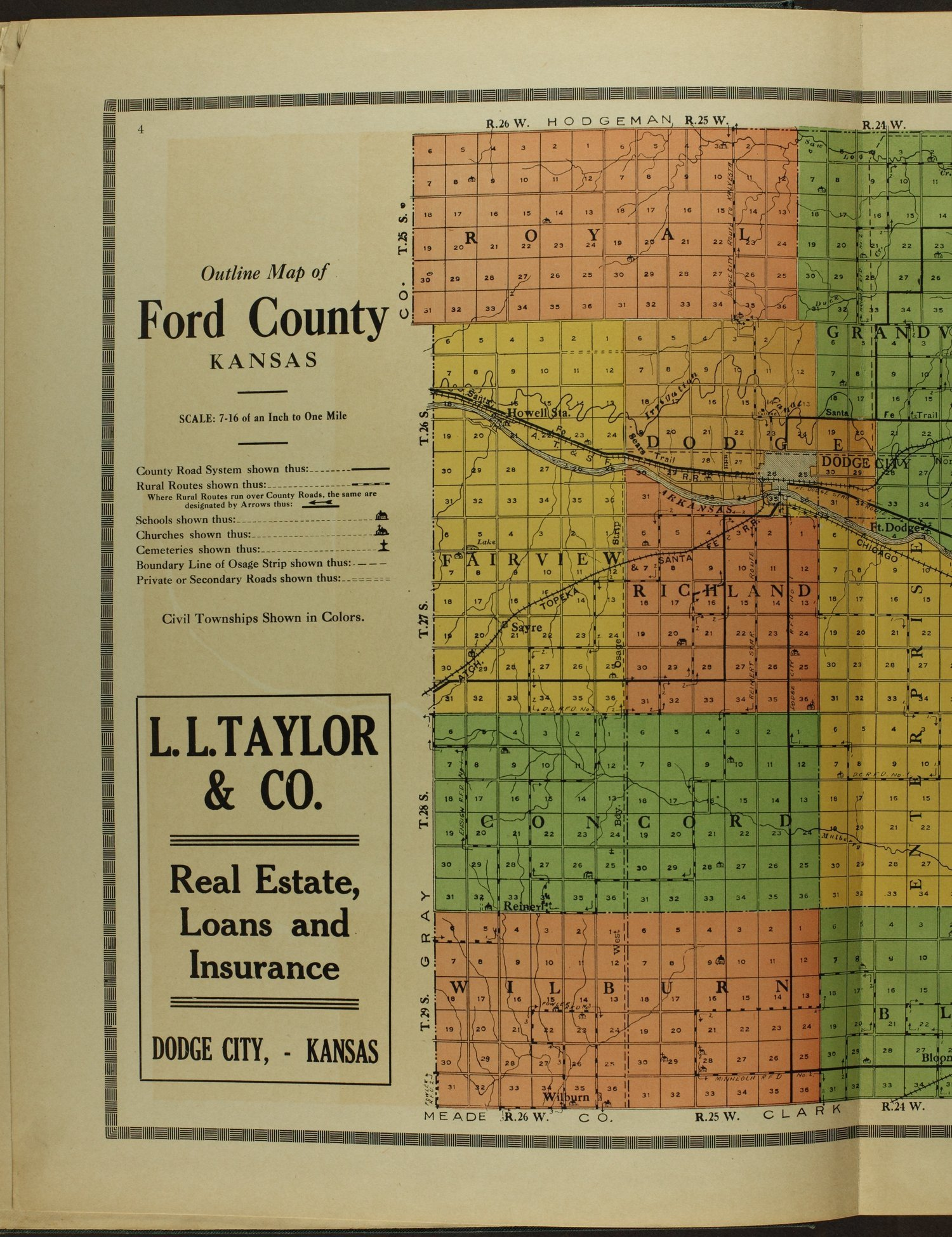 Atlas and plat book of Ford County, Kansas - 4