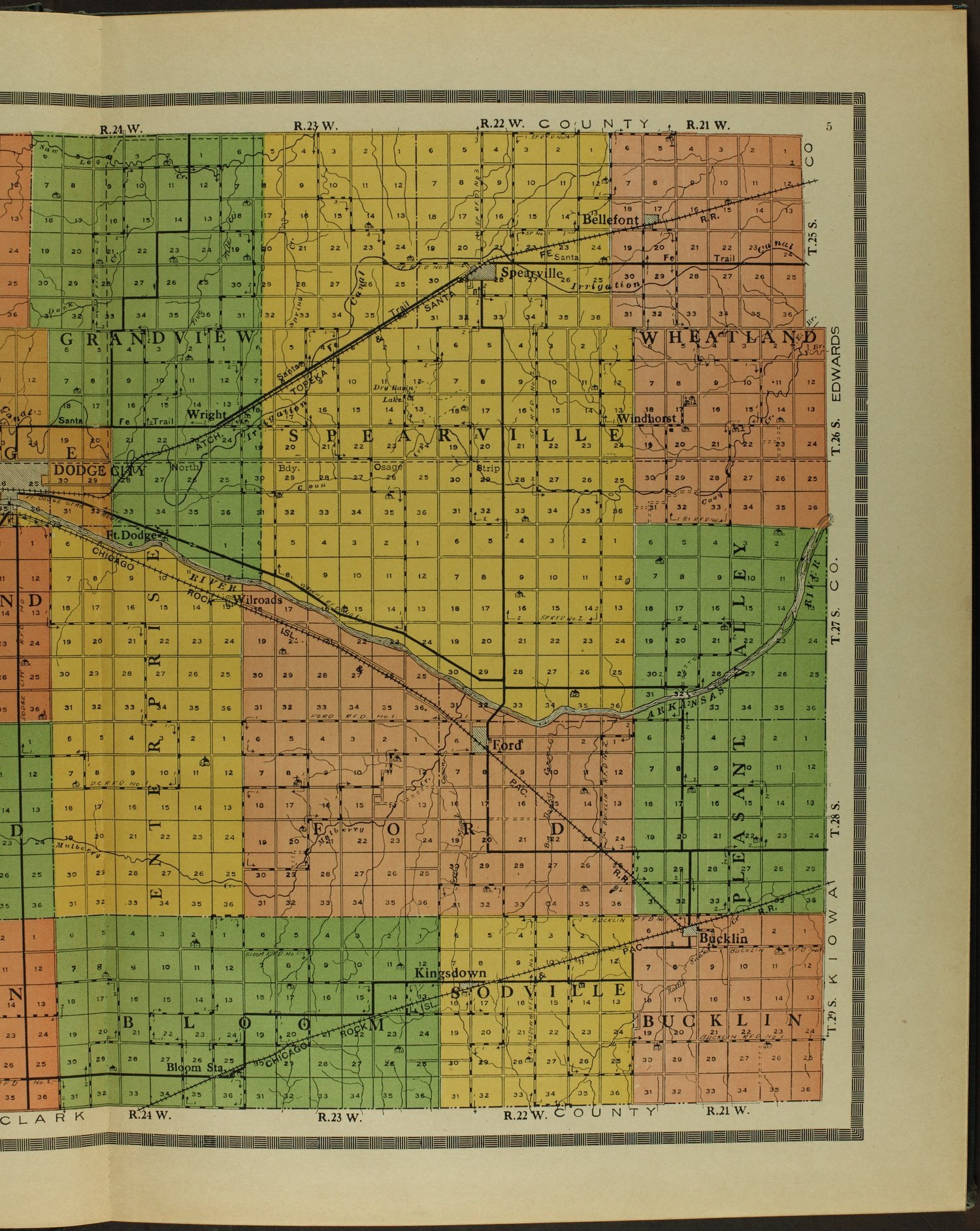 Atlas and plat book of Ford County, Kansas - 5