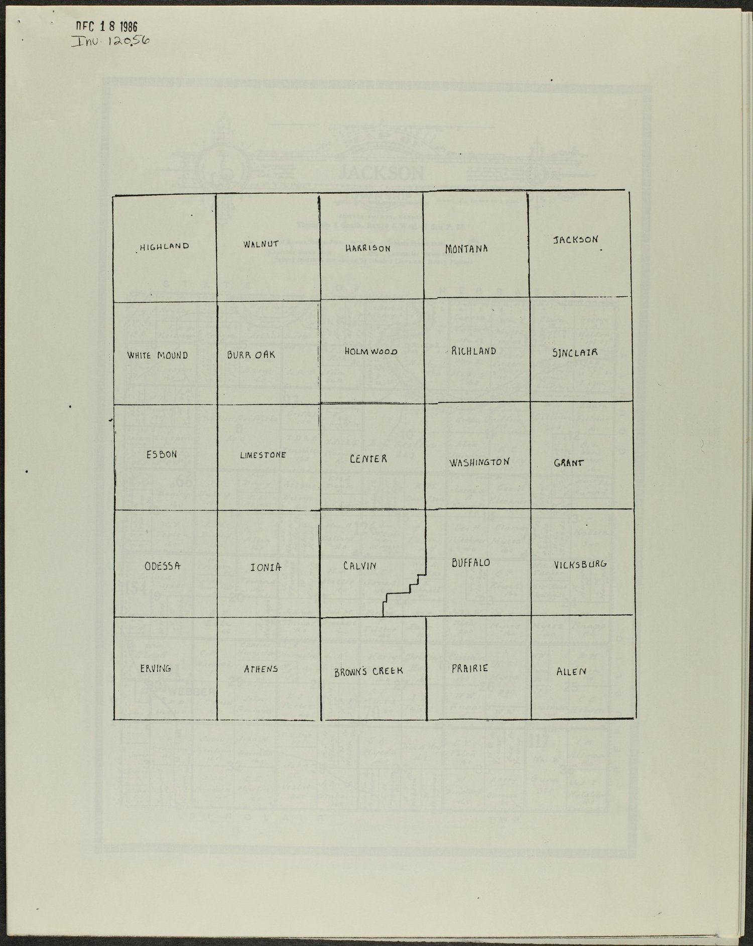 Atlas and plat book of Jewell County, Kansas - Township map