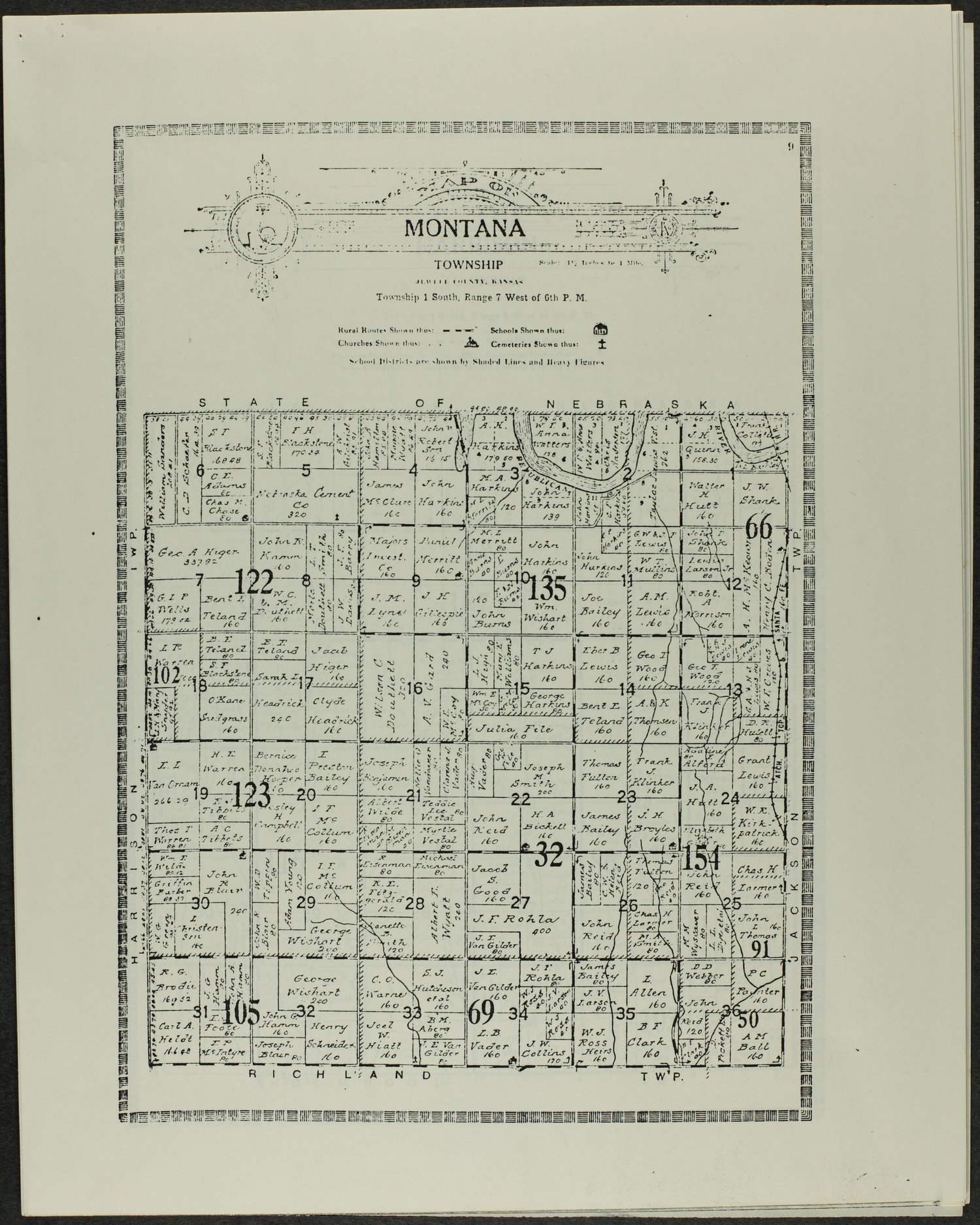 Atlas and plat book of Jewell County, Kansas - 9