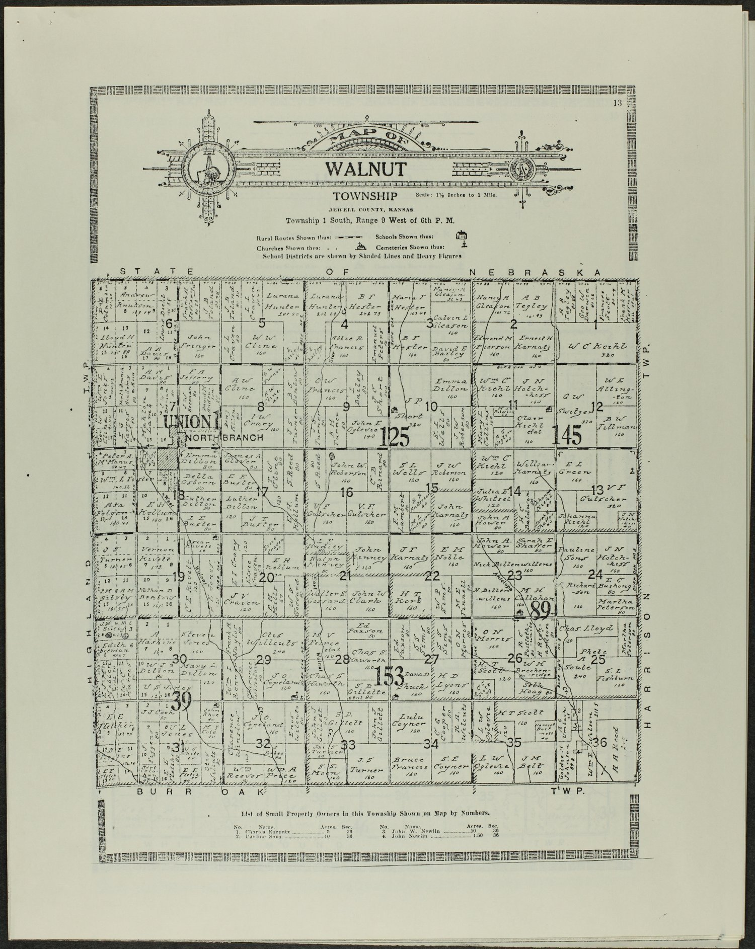 Atlas and plat book of Jewell County, Kansas - 13