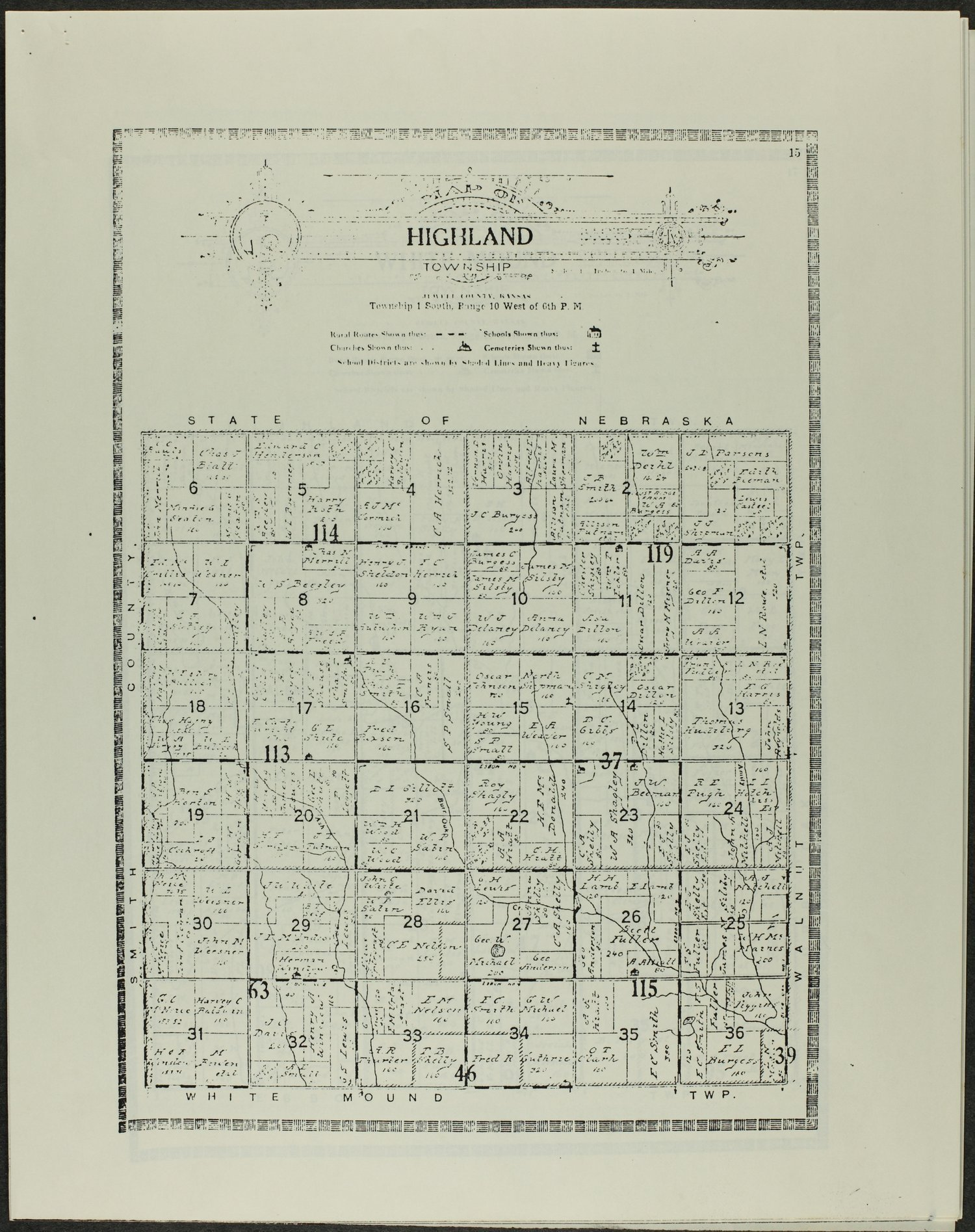 Atlas and plat book of Jewell County, Kansas - 15