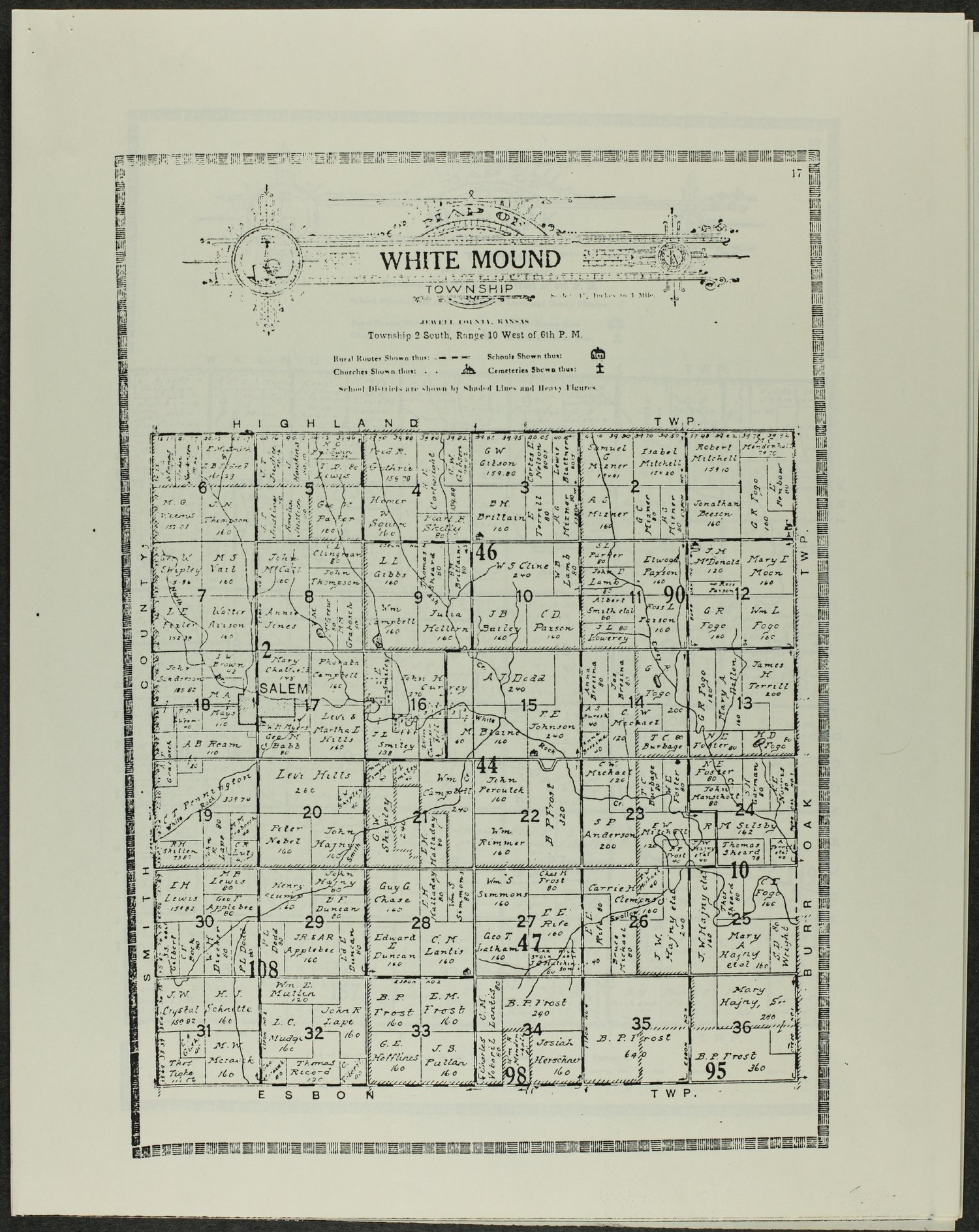 Atlas and plat book of Jewell County, Kansas - 17