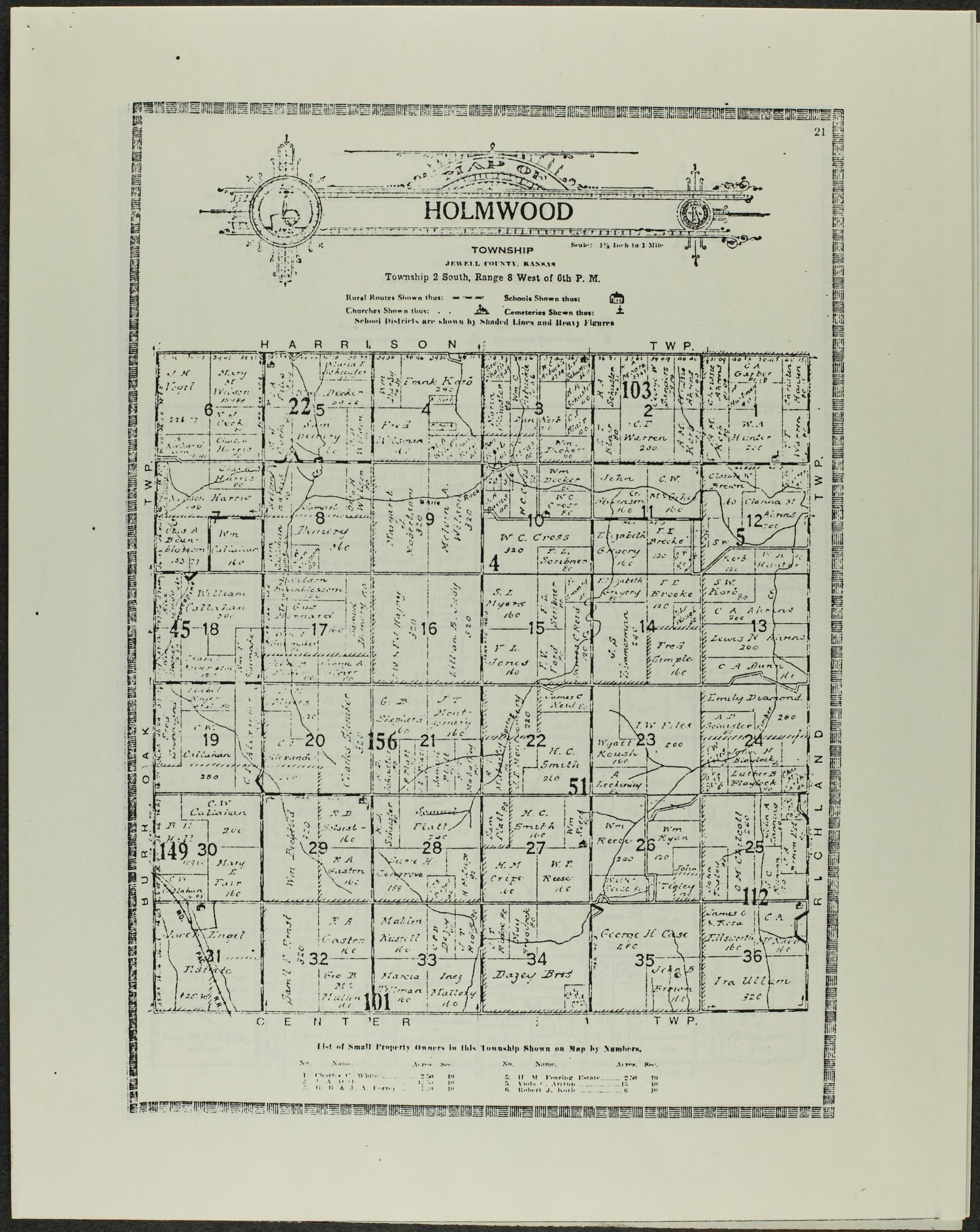 Atlas and plat book of Jewell County, Kansas - 21