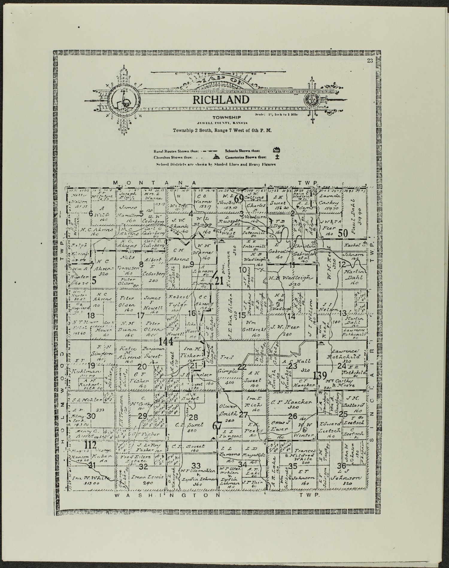 Atlas and plat book of Jewell County, Kansas - 23
