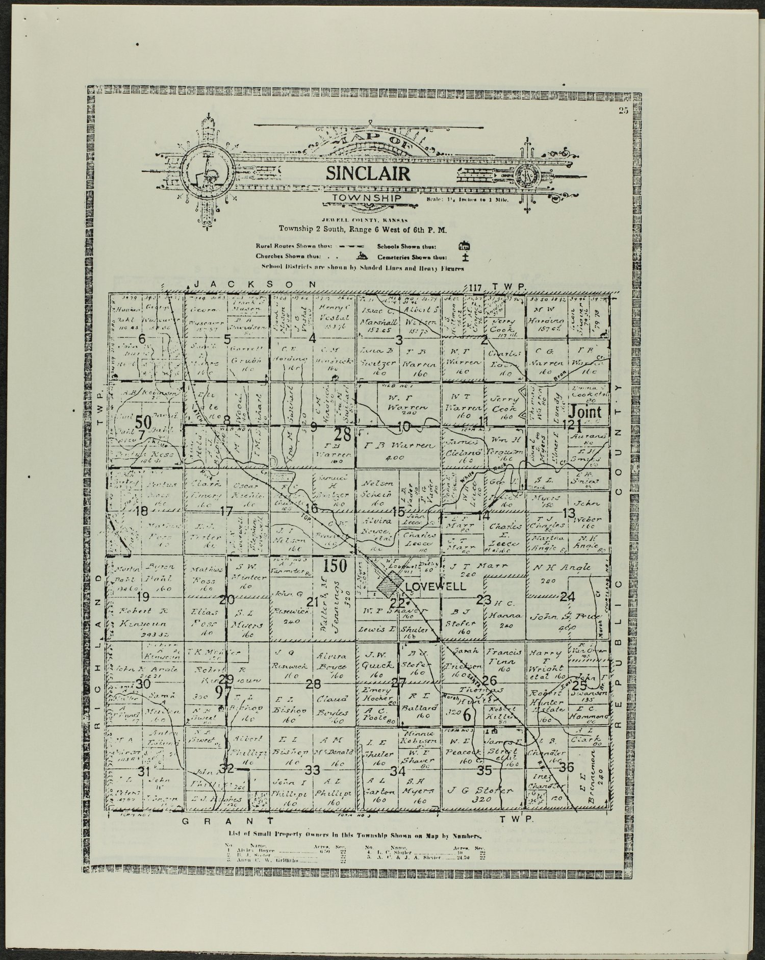 Atlas and plat book of Jewell County, Kansas - 25