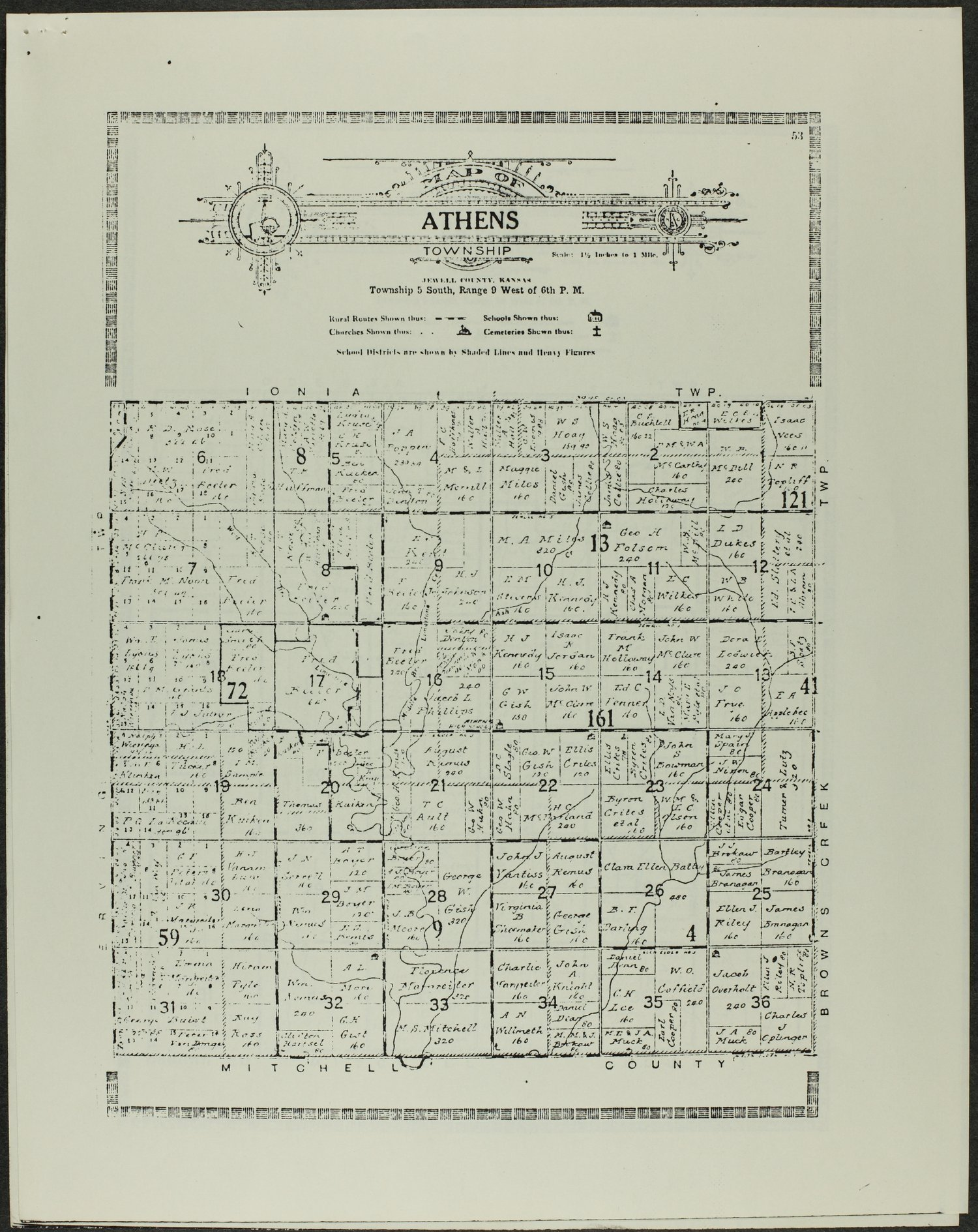 Atlas and plat book of Jewell County, Kansas - 53