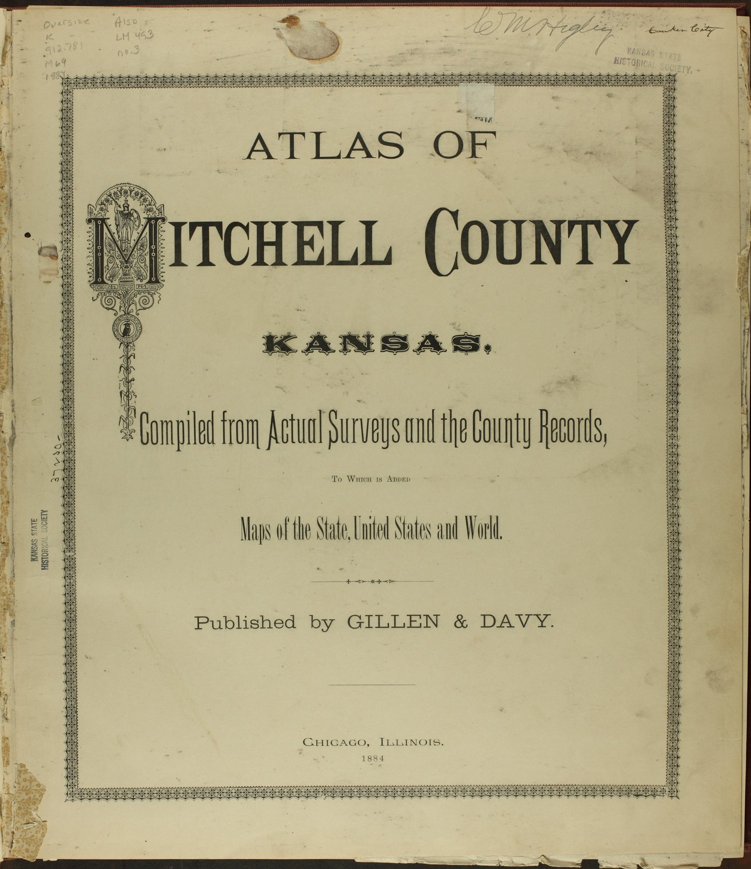 Atlas of Mitchell County, Kansas - Title Page