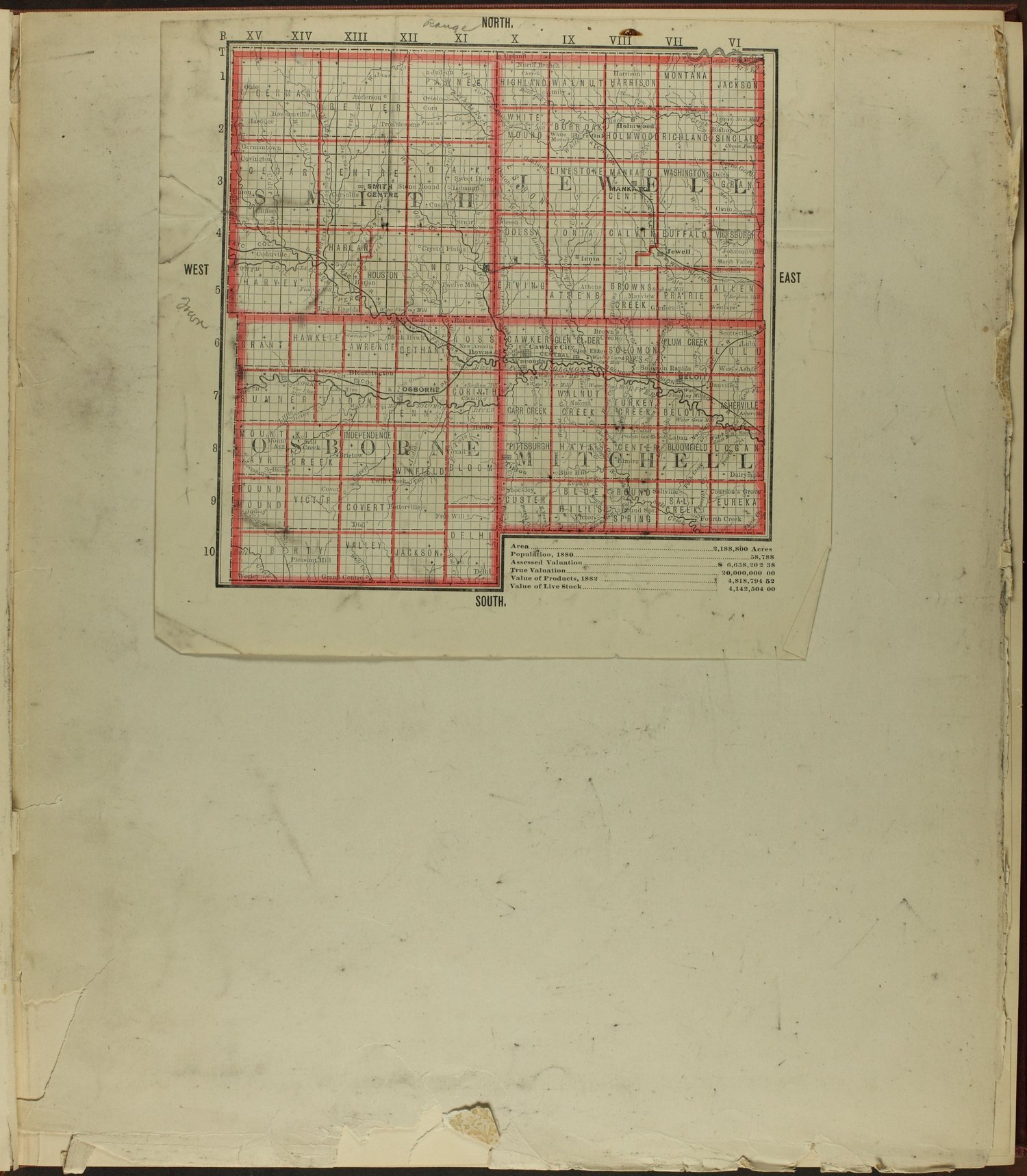 Atlas of Mitchell County, Kansas - Map