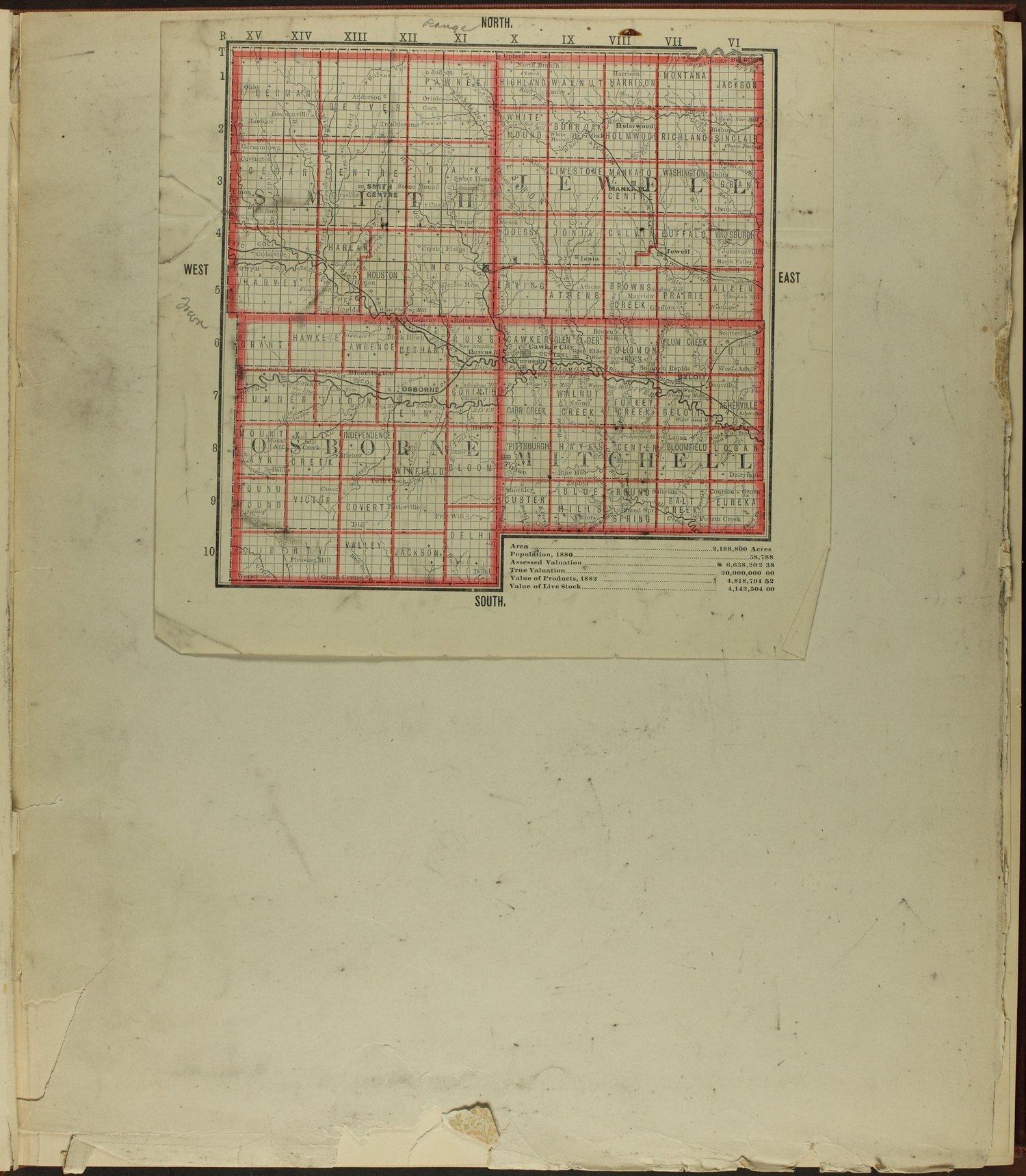 Atlas of Mitchell County, Kansas - Map