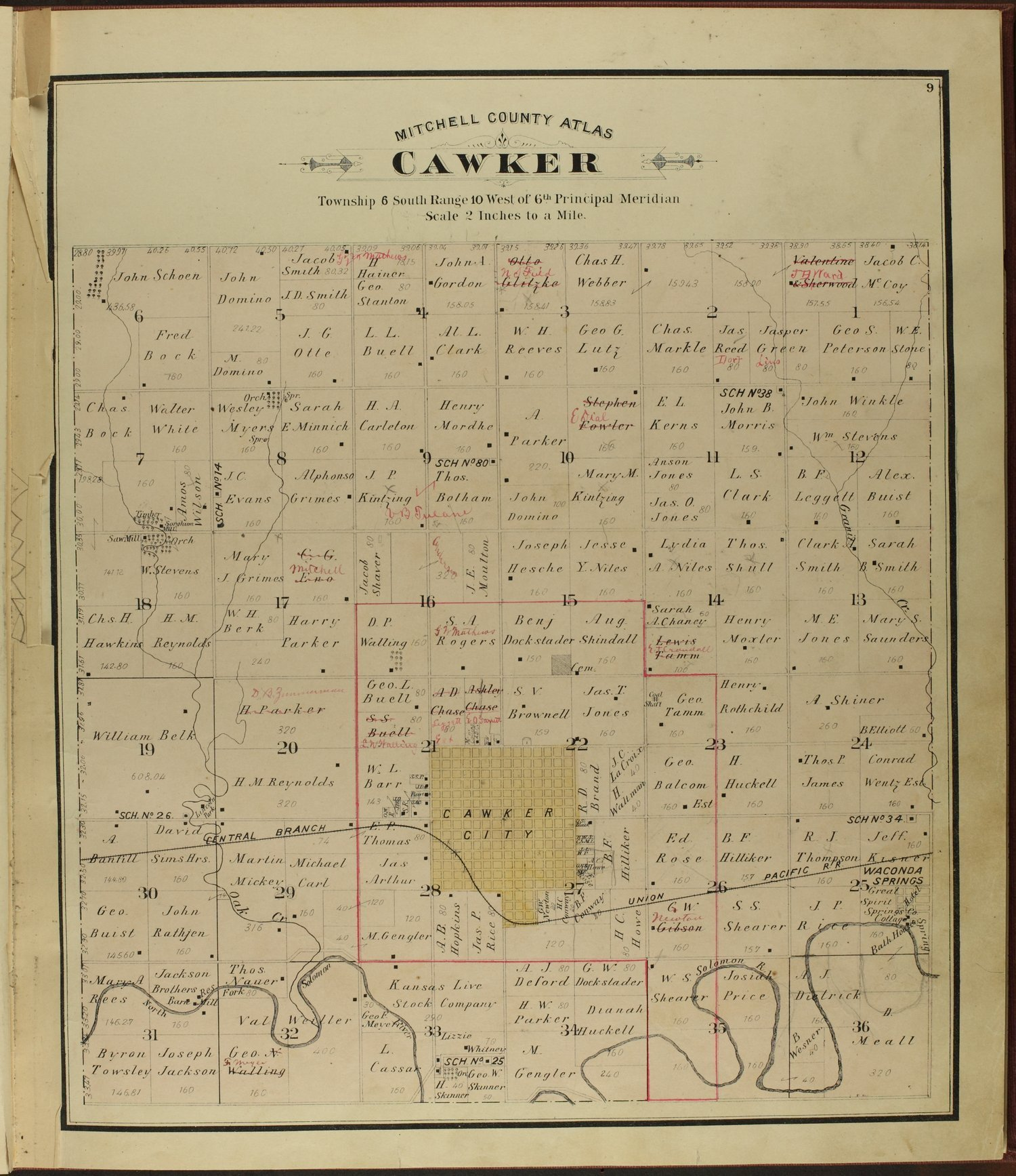 Atlas of Mitchell County, Kansas - 9