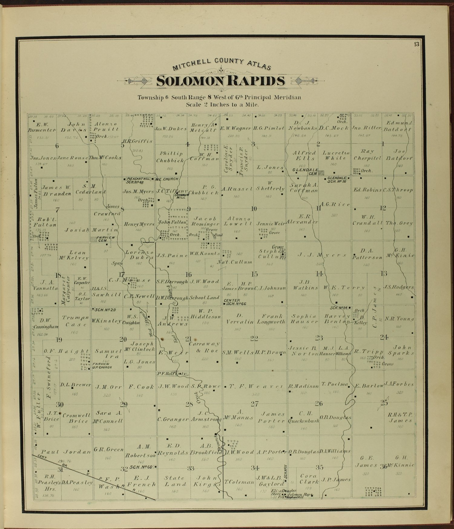 Atlas of Mitchell County, Kansas - 13