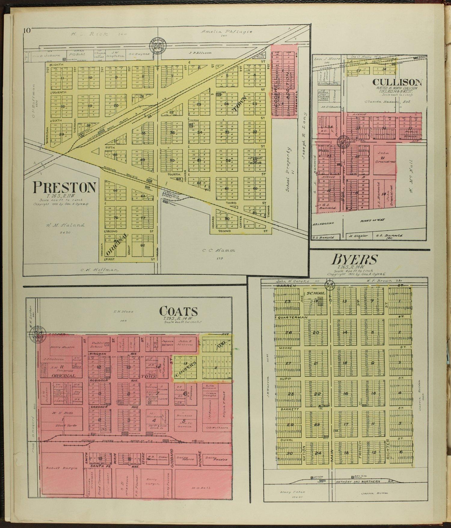 Standard atlas of Pratt County, Kansas - 10