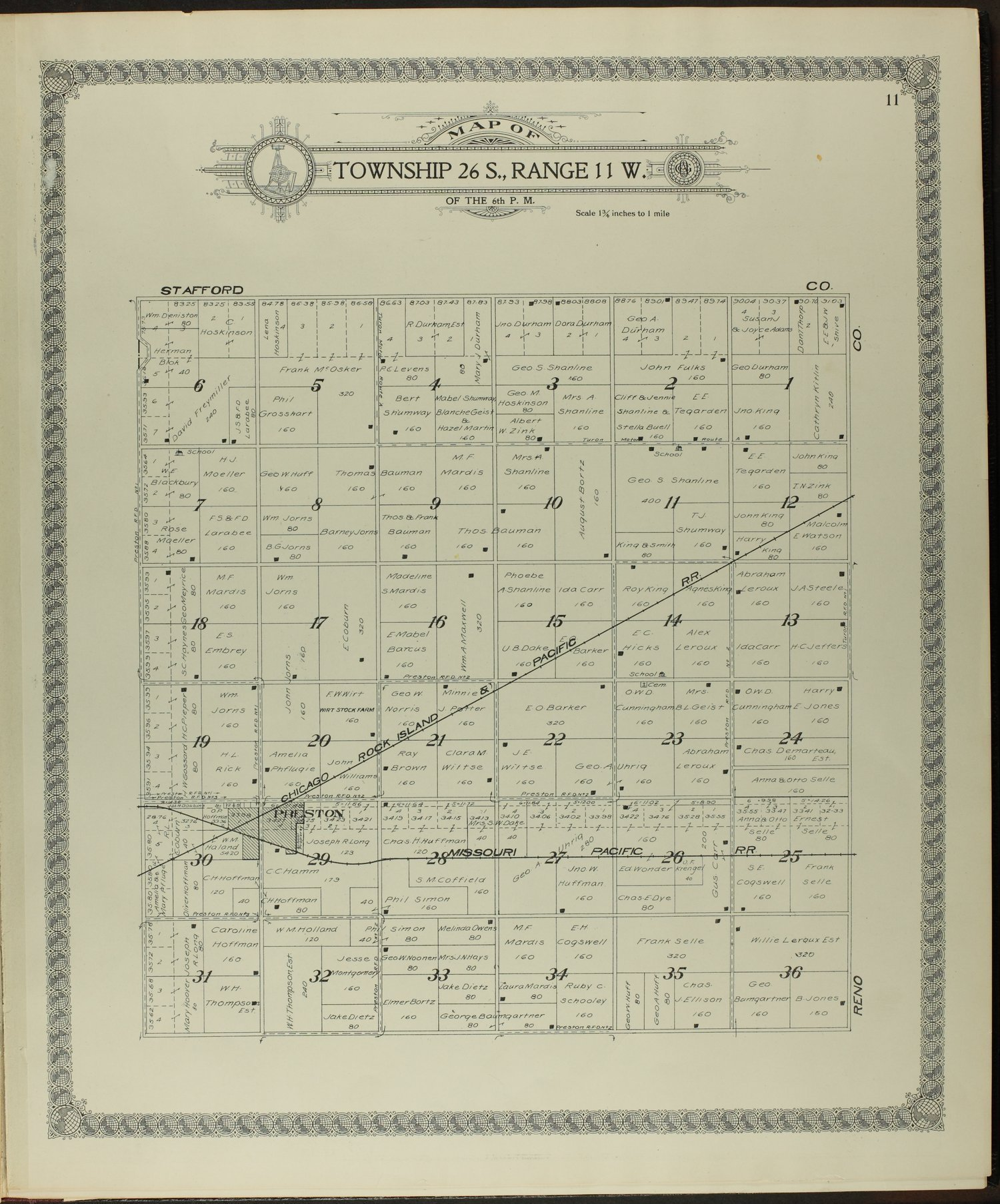 Standard atlas of Pratt County, Kansas - 11