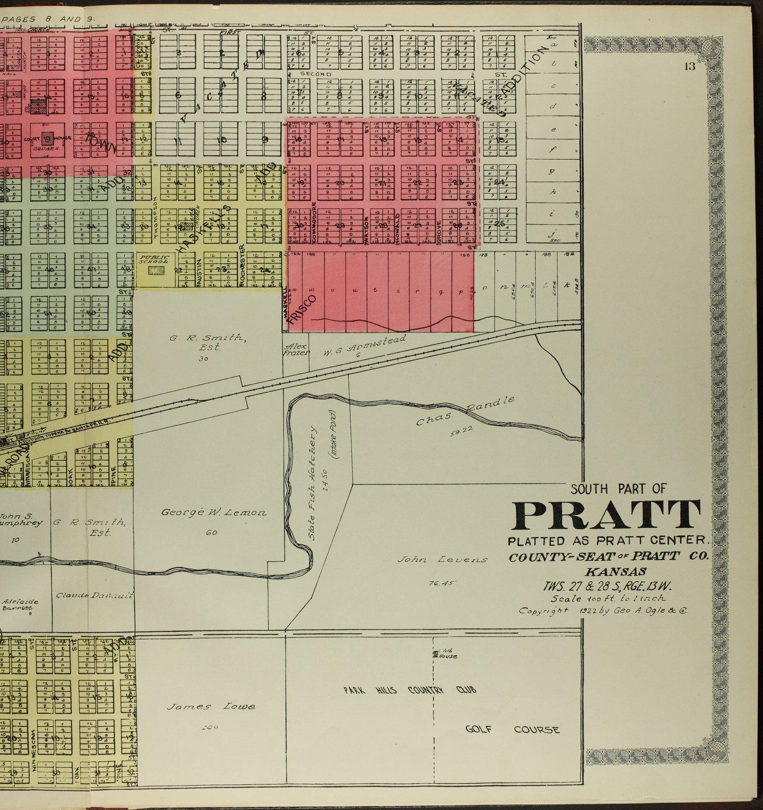 Standard atlas of Pratt County, Kansas - 13