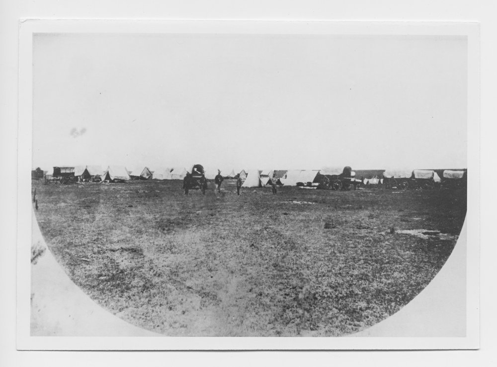 Engineer camp on the Great Plains of Kansas