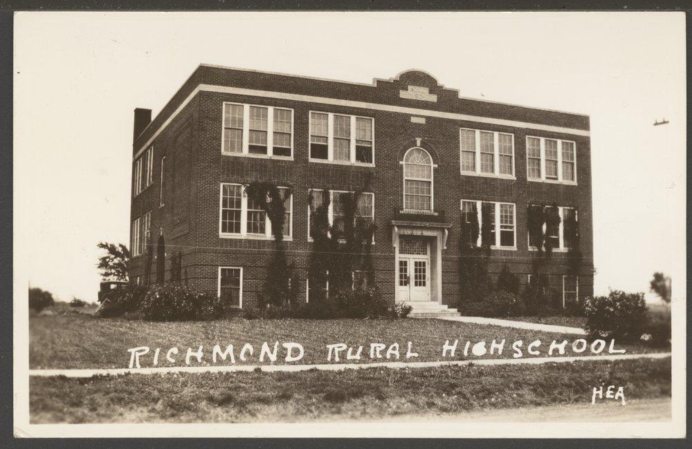 Rural high school in Richmond, Kansas