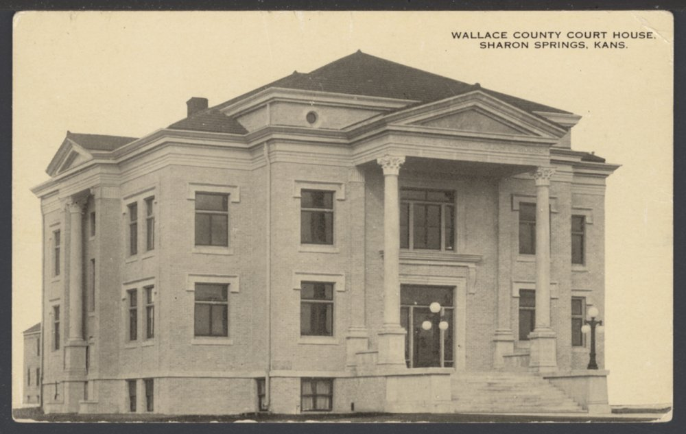 Wallace County Court House, Sharon Springs, Kansas - 1