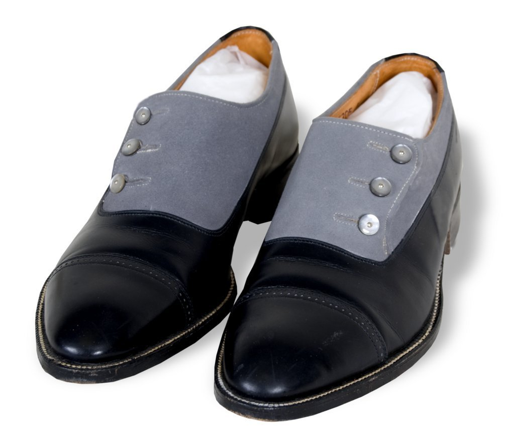 Man's black leather shoes