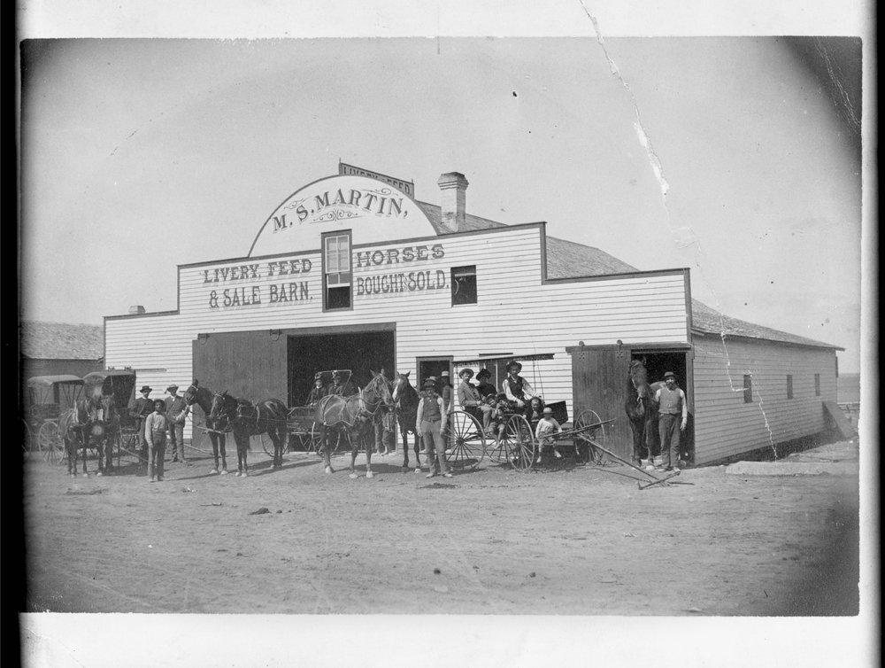 M.S. Martin's Livery barn, Sharon Springs, Kansas