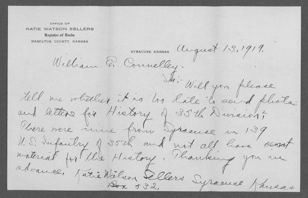 Merle Daniel Sellers, World War I soldier - 1