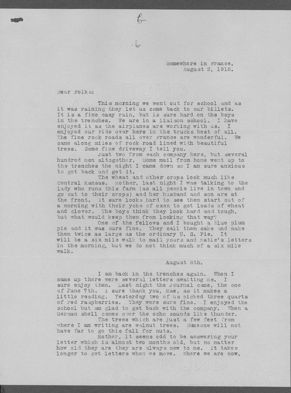 Merle Daniel Sellers, World War I soldier - 9