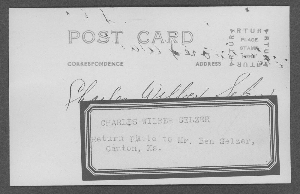 Charles Wilber Selzer, World War I soldier - 2