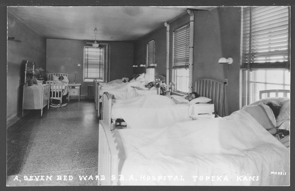 Security Benefit Association farm and hospital complex in Topeka, Kansas - A seven bed ward in the SBA hospital.