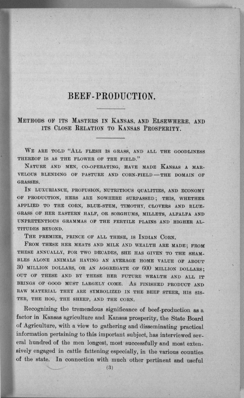 Eleventh biennial report of the Kansas State Board of Agriculture, 1897-98 - 3