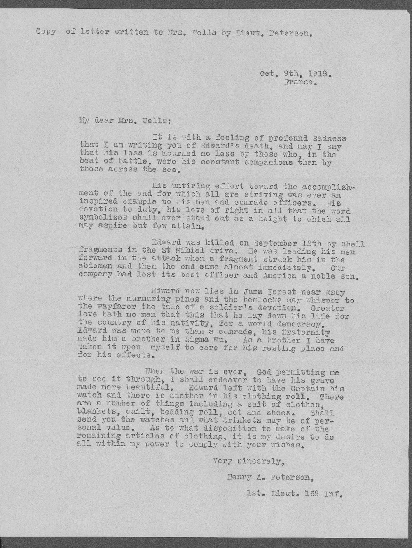 Edward David Wells, World War I soldier - 10