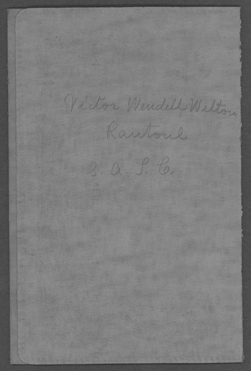 Victor Wendell Welton, World War I soldier - 2