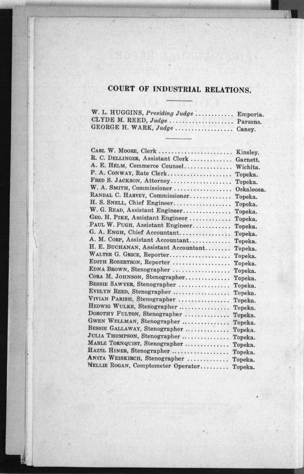 Court of Industrial Relations annual reports - 2