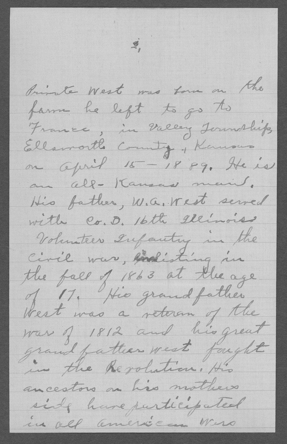 Harrison M. West, World War I soldier - 4
