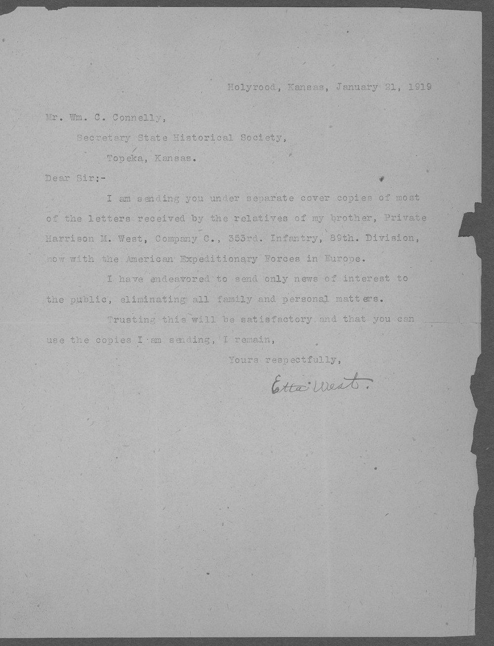 Harrison M. West, World War I soldier - 9
