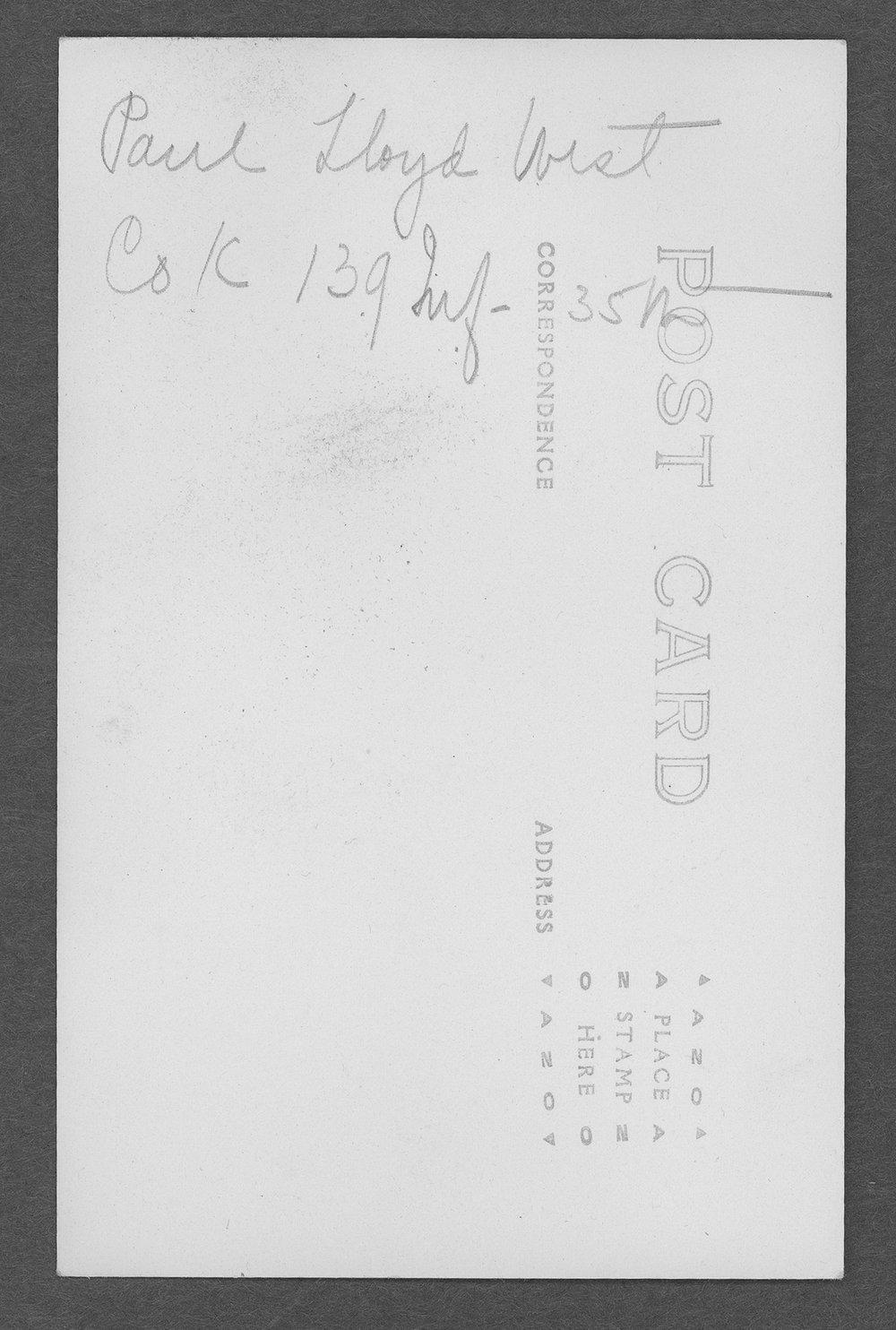 Paul Lloyd West, World War I soldier - 2
