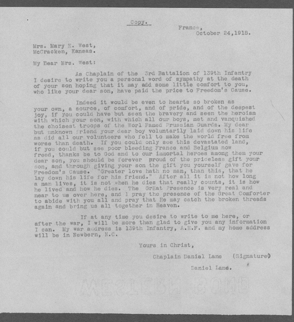 Paul Lloyd West, World War I soldier - 7