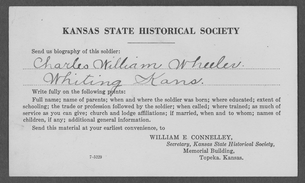 William Charles Wheeler, World War I soldier - 3