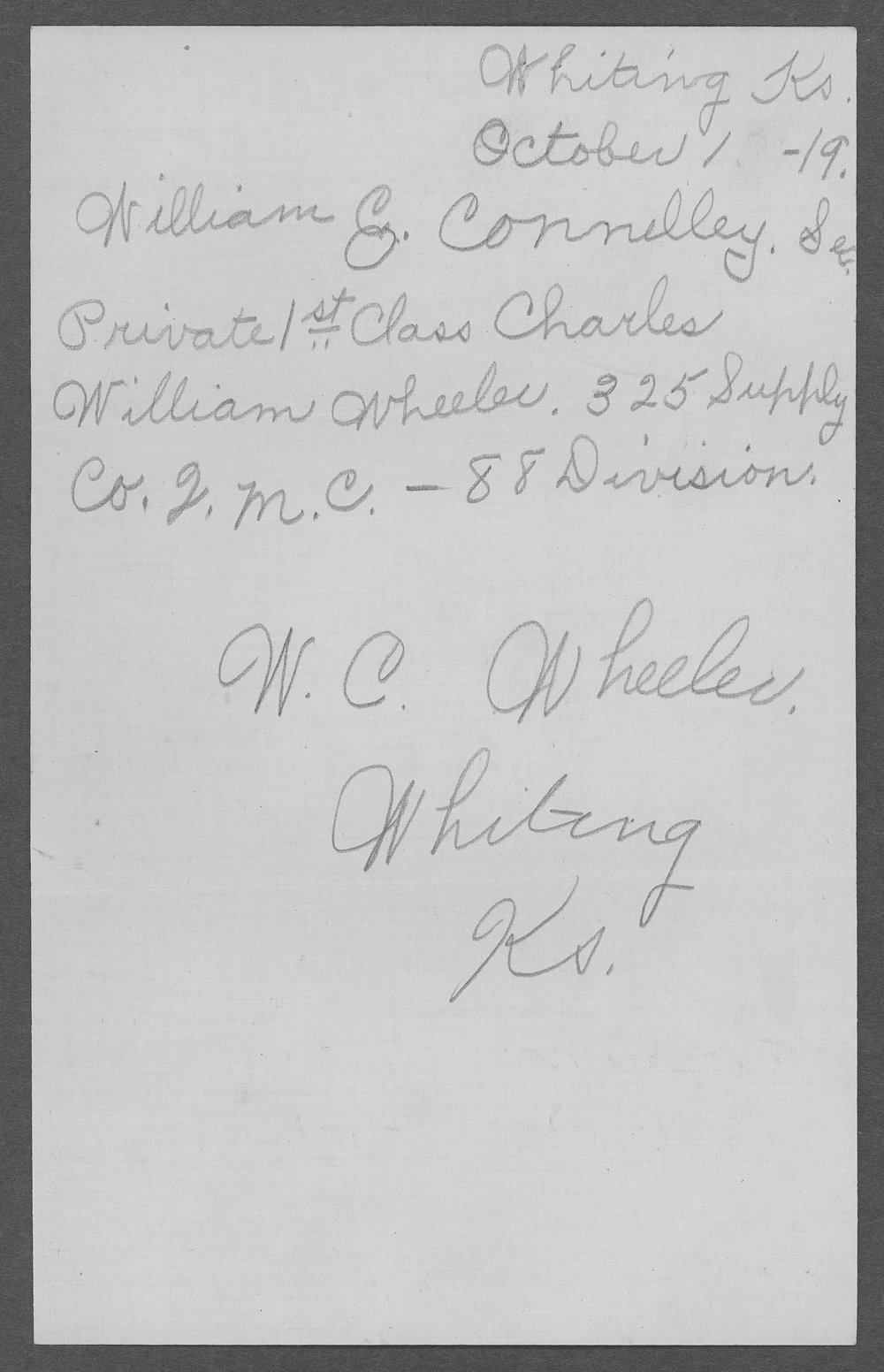 William Charles Wheeler, World War I soldier - 10