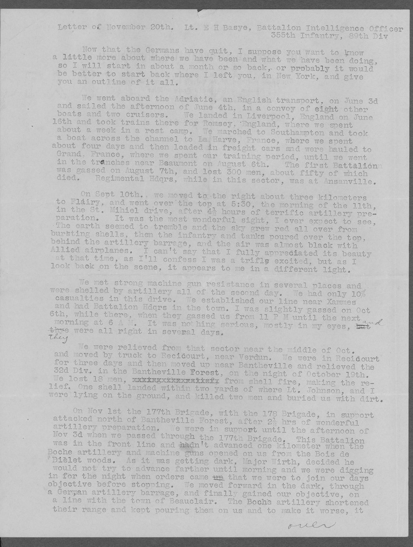 Edmond H. Basye, World War I soldier - 2