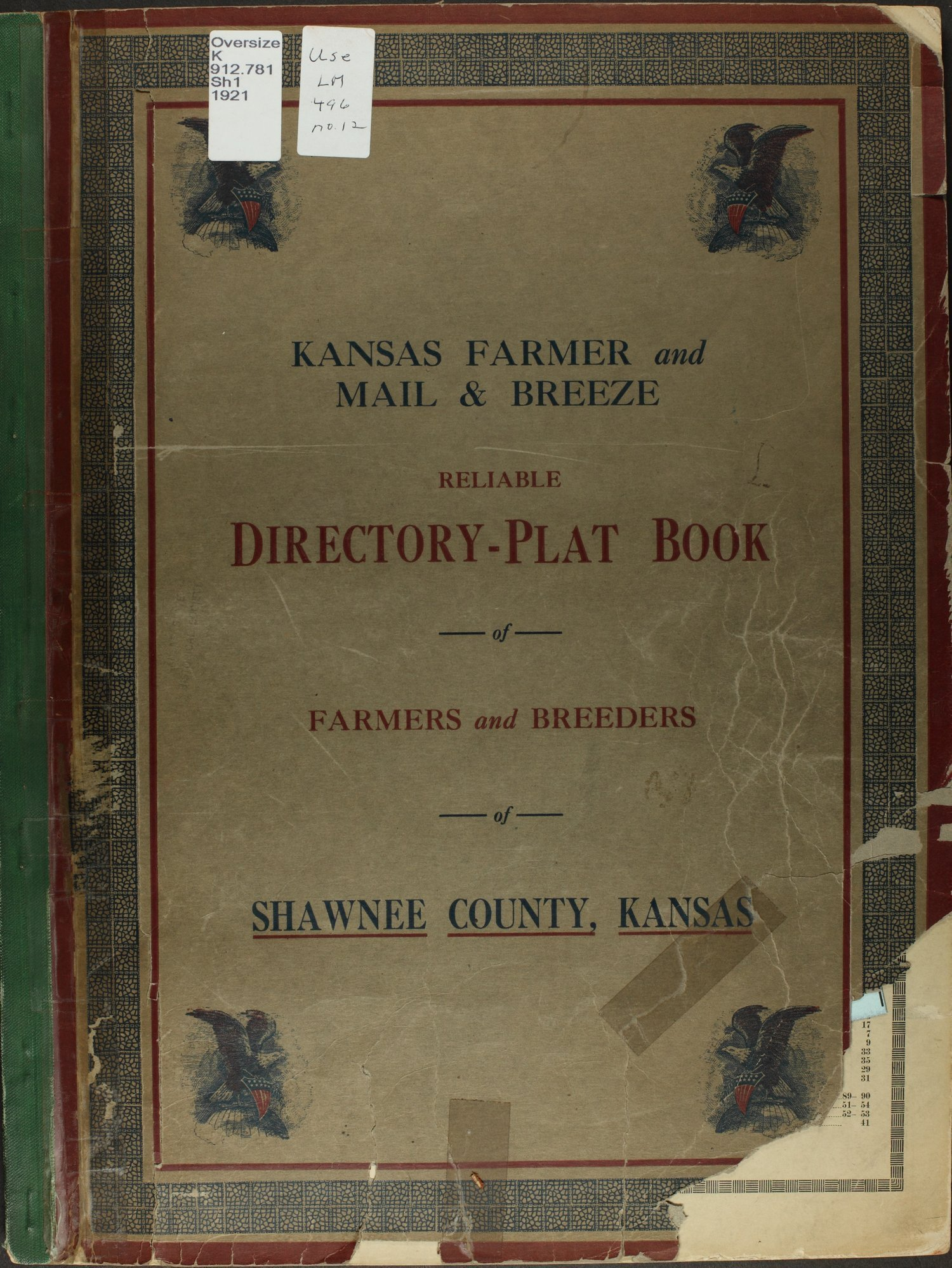 Atlas and plat book of Shawnee County, Kansas - Front Cover