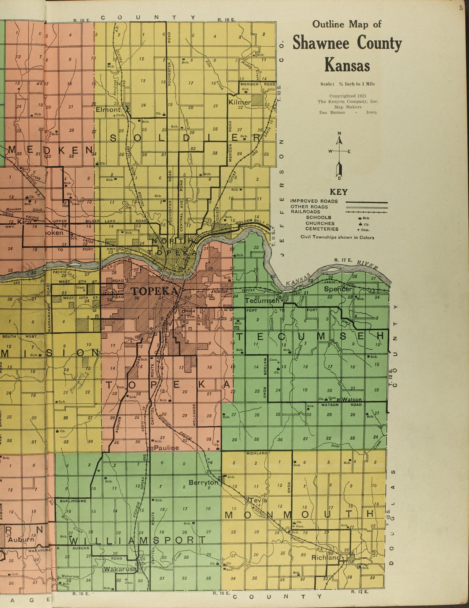 Atlas and plat book of Shawnee County, Kansas - 5