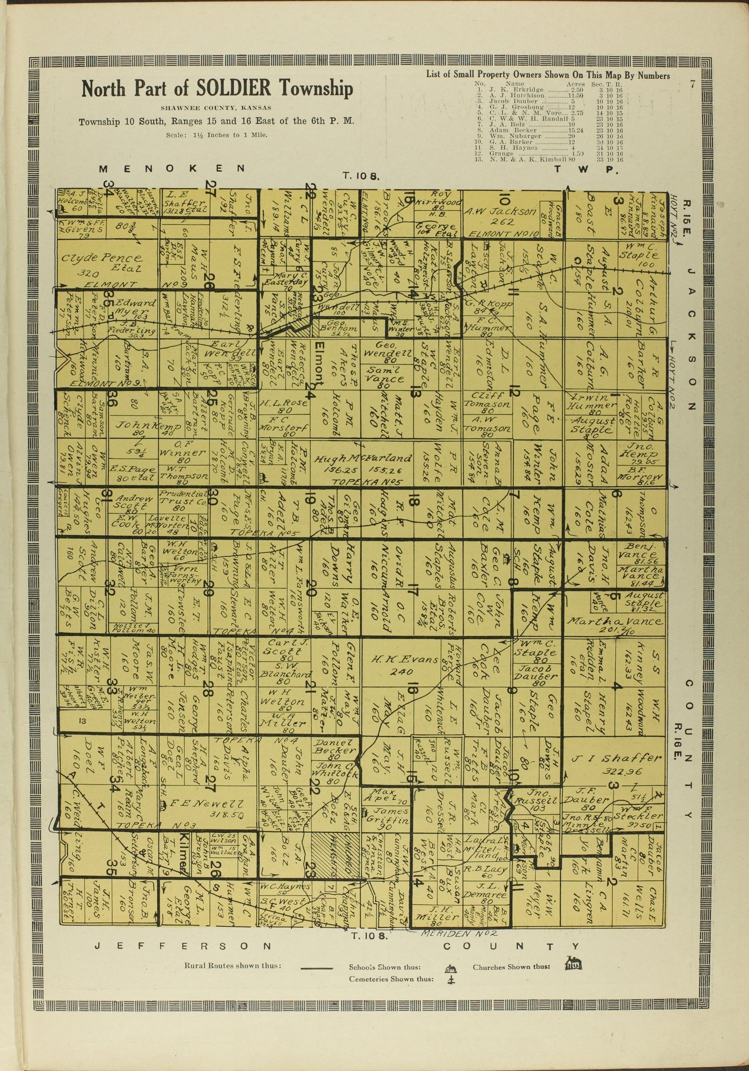 Atlas and plat book of Shawnee County, Kansas - 7