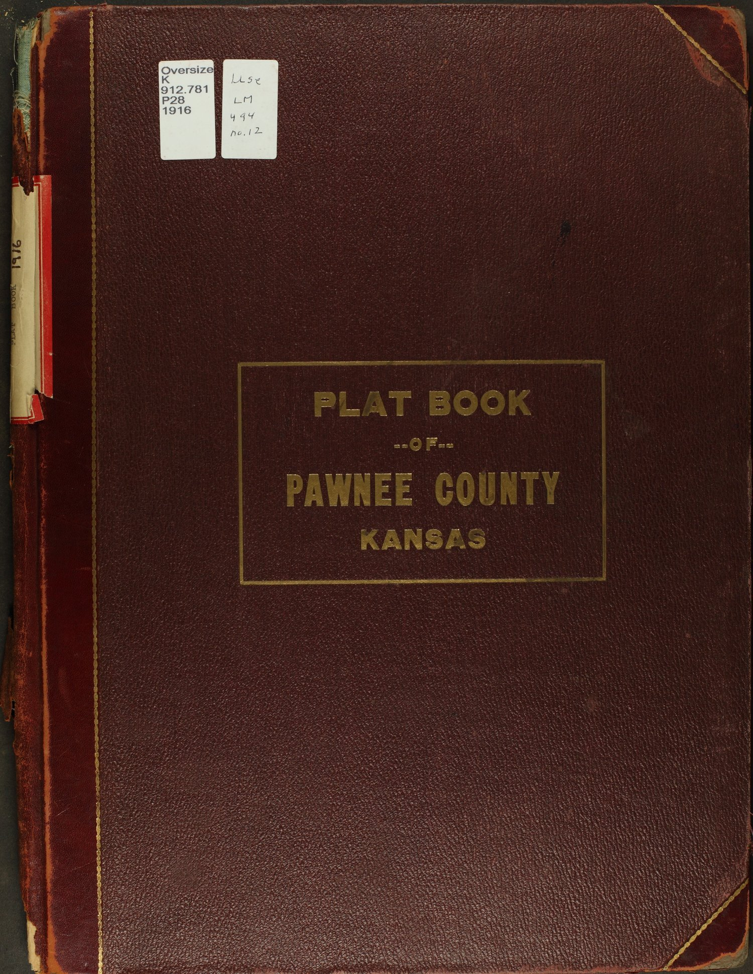 Atlas and plat book of Pawnee County, Kansas - Front Cover