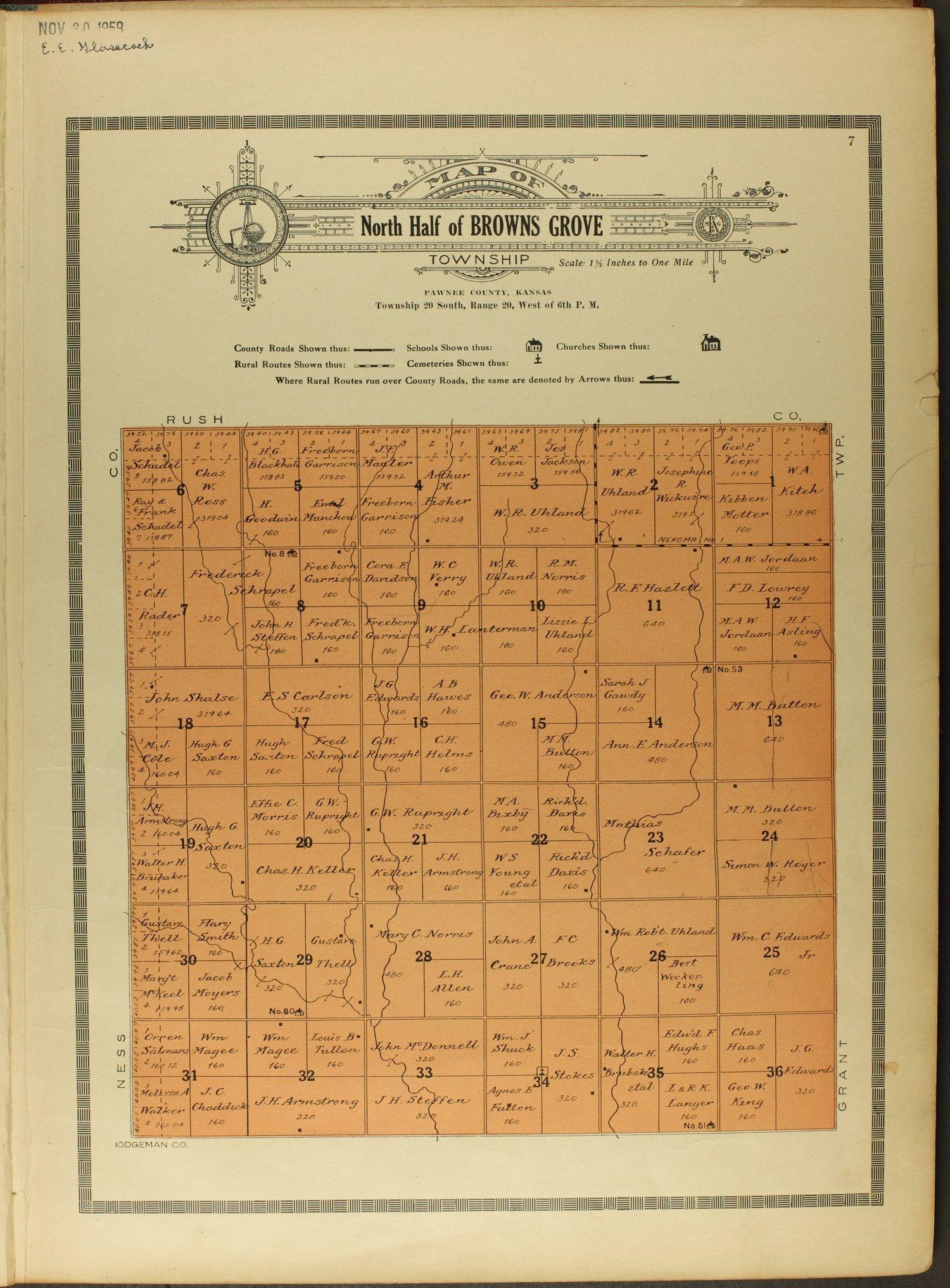 Atlas and plat book of Pawnee County, Kansas - 7