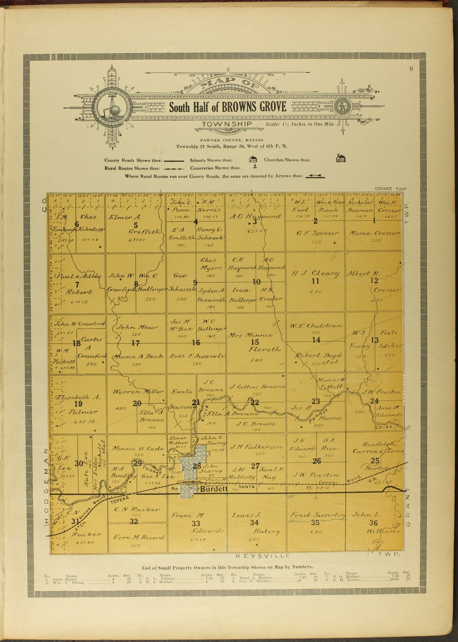 Atlas and plat book of Pawnee County, Kansas - 9