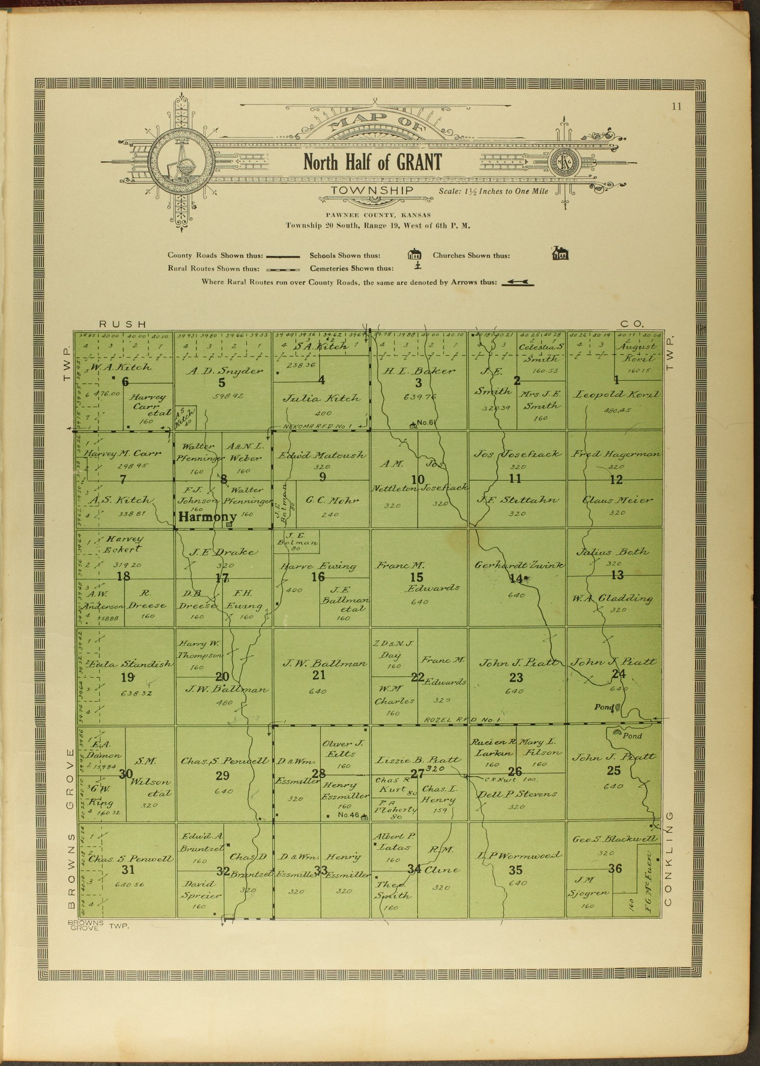 Atlas and plat book of Pawnee County, Kansas - 11
