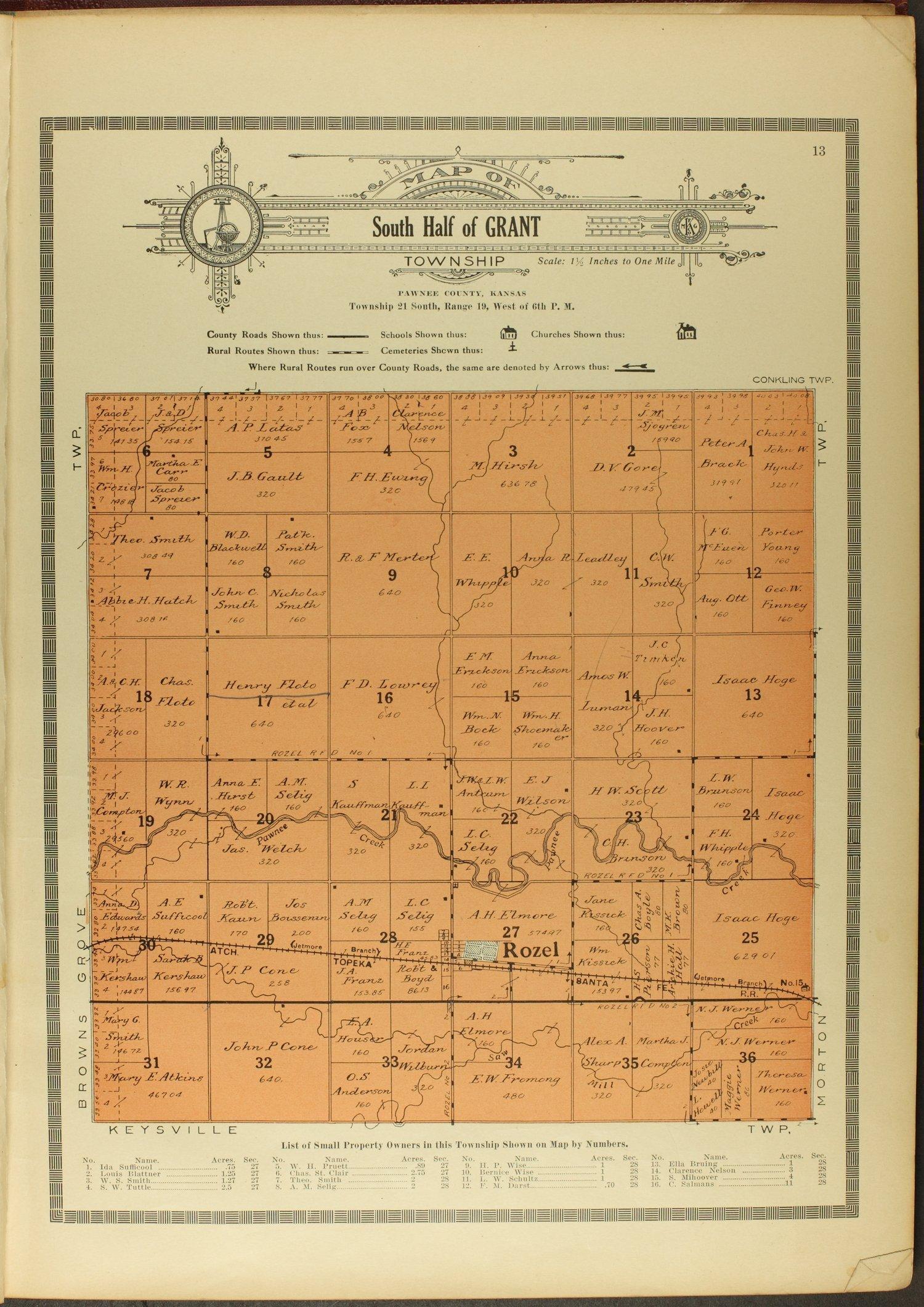 Atlas and plat book of Pawnee County, Kansas - 13